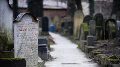 Jüdischer Friedhof in Krakau, Polen, 1. Februar 2018.