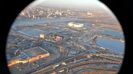 Schlagen Terroristen hier zu? Das Stadion in Rostow am Don zählt zu den Austragungsorten der Fußball-WM in Russland.