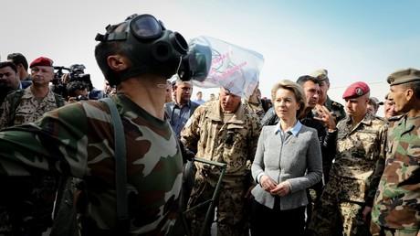 Verteidigungsministerin Ursula von der Leyen während ihres Besuches bei der Truppe im Irak, Februar 2018