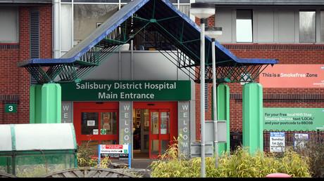 Eingang des Krankenhauses, in das Skripal eingeliefert wurde.