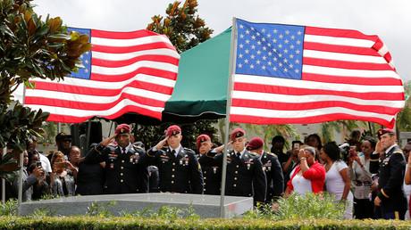 Die Trauerzeremonie für die vier durch den IS getöteten US-Soldaten