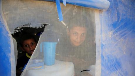 Kinder von Frauen, die behaupten, ihre Männer hätten dem Islamischen Staat angehört, Flüchtlingslager Jada, Irak, 27. Juli 2017.