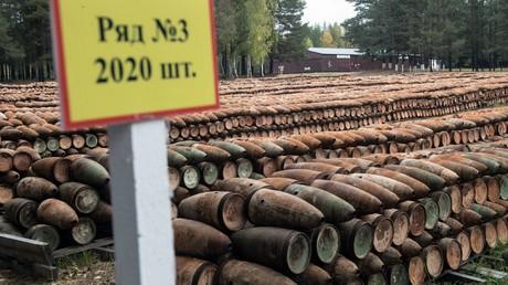 Über 120.000 Behälter mit angebrannten Giftstoffen in der Lagerungsstätte