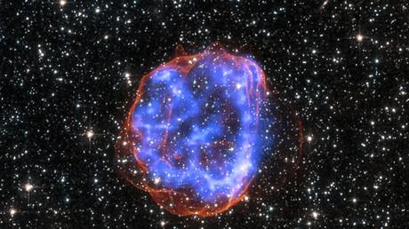 Überreste der Explosion eines Sterns, 23. Januar 2015.