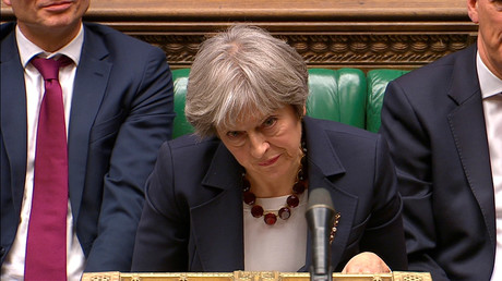 Die britische Premierministerin Theresa May während der Parlamentssitzung am 14. März 2018.