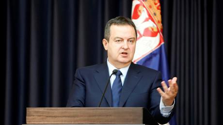 Der serbische Außenminister Ivica Dacic.