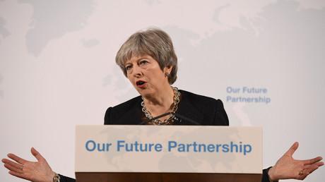 Theresa May, London, Großbritannien, 2. März 2018.
