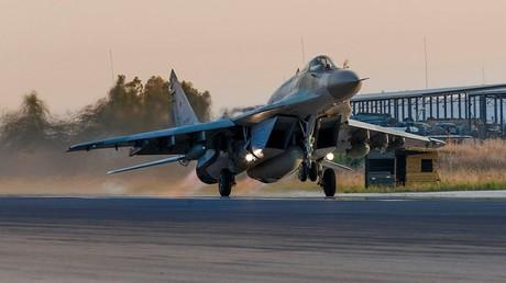 Eine russische MiG-29 beim Start.