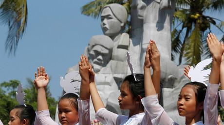 Gedenken an das Massaker von My Lai Massaker, Vietnam, 16. März 2018.