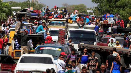 Die venezolanische Grenze zu Kolumbien im Bezirk Paraguachon am 20. Februar 2018.