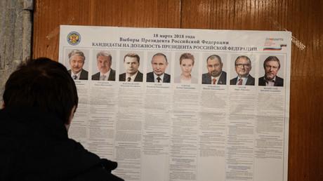 Auch in der russischen Botschaft in Bulgarien konnte man einem der acht Kandidaten am Sonntag seine Stimme geben.