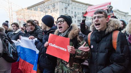 LIVE: Oppositionelle demonstrieren in Moskau gegen Wahlausgang