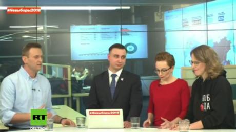 """Nawalny vs. Sobtschak: """"Lügner!"""" - Russische Oppositionelle zerfleischen sich vor laufender Kamera"""
