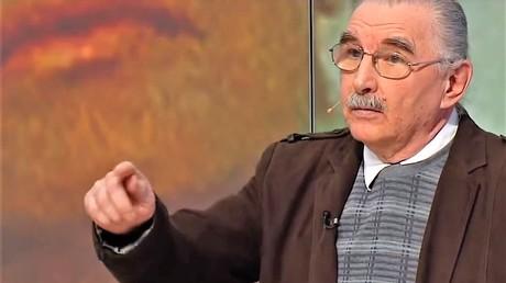 Walter Litwinenko während einer Fernsehsendung