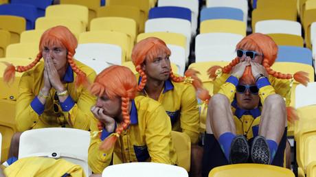 Schwedische Fussballfans in der Ukraine nach dem Aus bei der EM 2012 gegen England, 15. Juni 2012.