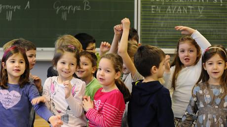 Französisch-Unterricht in einer Grundschule in Völklingen.