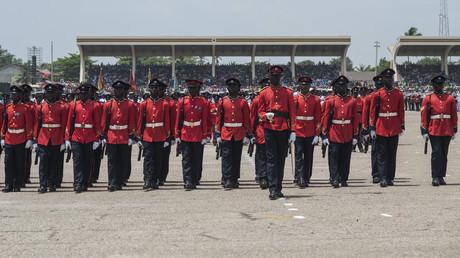 Soldaten während der Feierlichkeiten zum 60. Jahrestag der Unabhängigkeit Ghanas, Accra, 6. März 2017
