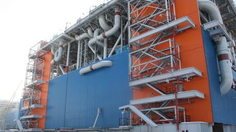 Eine Jamal LNG-Gasverflüssigungsanlage in Sabetta, Russland, 30. März 2017. Die Anlage ist die weltweit größte ihrer Art.