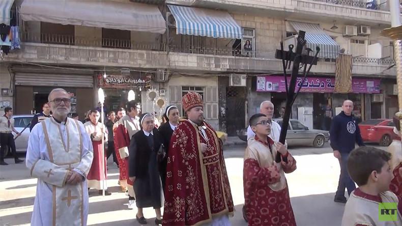 Tausende Christen in Aleppo und ganz Syrien feiern Ostern (Video)