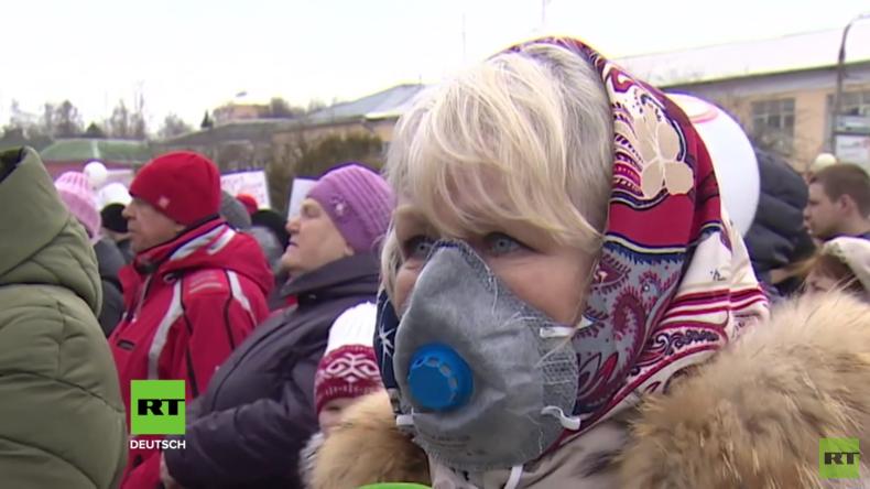 Tausende fordern Schließung von giftiger Abfalldeponie im Moskauer Gebiet (Video)