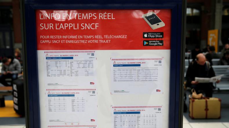 """""""Schwarzer Dienstag"""": Frankreich beginnt landesweiten Bahnstreik gegen umstrittene Reformpläne"""