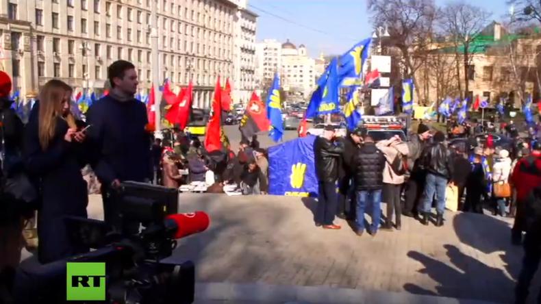 """LIVE: Ukrainische Nationalisten marschieren in Kiew gegen """"politisches System der Oligarchen"""""""