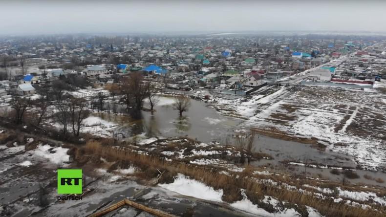 Russland: Tausende Menschen fliehen vor Hochwasser in Wolgograd