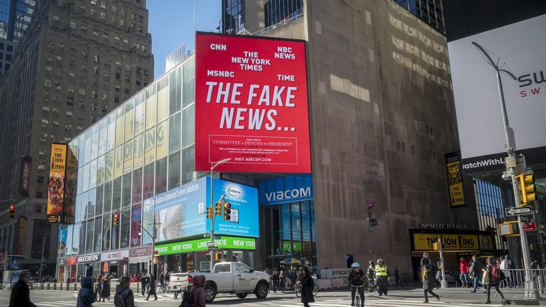 Neue Studie: 77 Prozent der US-Amerikaner werfen Mainstreammedien Verbreitung von Fake News vor