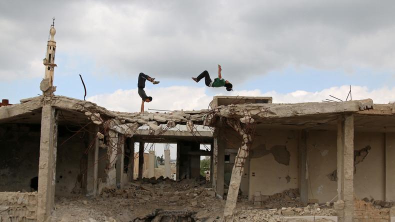 Syrien: Parkour-Profis können im befreiten Aleppo wieder ihr Lieblingshobby pflegen