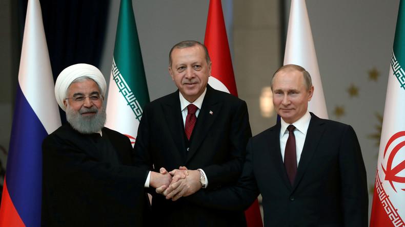 Dreier-Gipfel in Ankara: Russland, Iran und Türkei wollen gemeinsam Spaltung Syriens verhindern