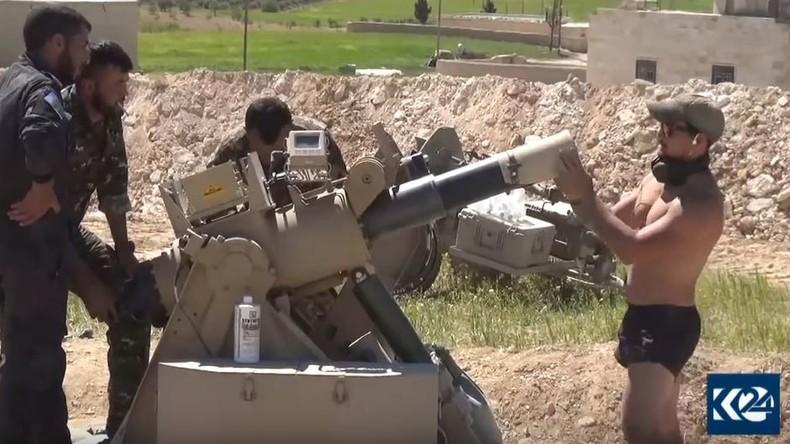 US-Elitesoldaten errichten neue illegale Militärstellung im syrischen Manbidsch (Video)