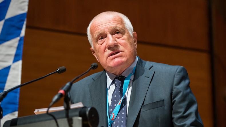 Tschechischer Ex-Präsident Klaus verurteilt Ausweisung von Diplomaten und Auslieferung eines Russen