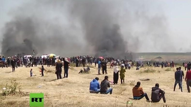 """LIVE: Palästinenser protestieren in Gaza für """"Recht auf Rückkehr"""" in Gebiet des heutigen Israels"""