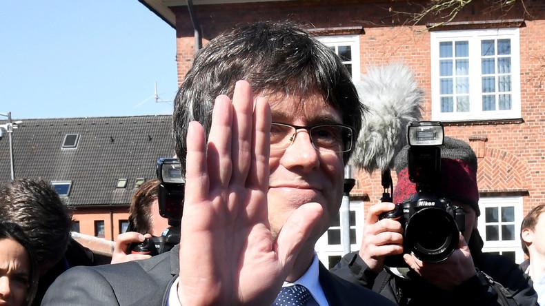 Carles Puigdemont spricht in Berlin nach Haftentlassung