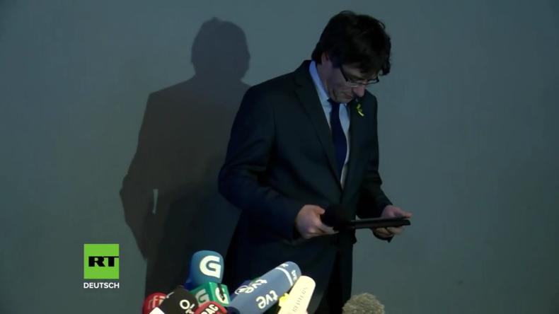 """Puigdemont fordert: """"Demokratie und internationale Verträge zu respektieren"""" (Video)"""