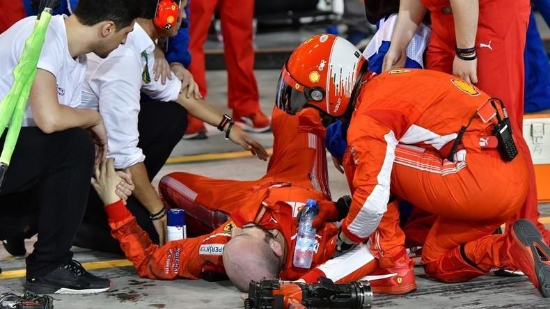 Formel-1-Mechaniker erleidet doppelten Beinbruch bei schwerem Unfall an Boxenstopp