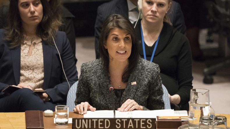 US-Botschafterin Haley: Russland wird niemals unser Freund sein, wir werden sie bei Bedarf verhauen