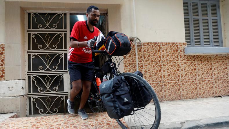 Tour de WM: Ägyptischer Fan radelt 5.000 Kilometer zur Fußball-WM nach Russland