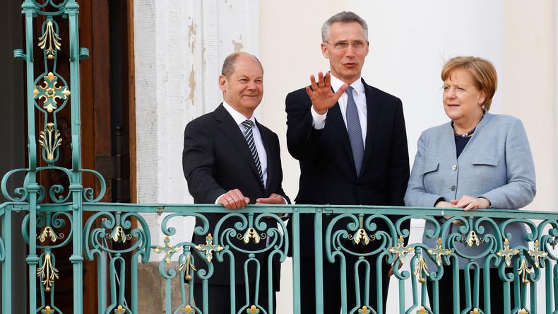 Klausurteilnehmer auf NATO-Linie  - Wann genau wurde Stoltenberg ins deutsche Kabinett gewählt?