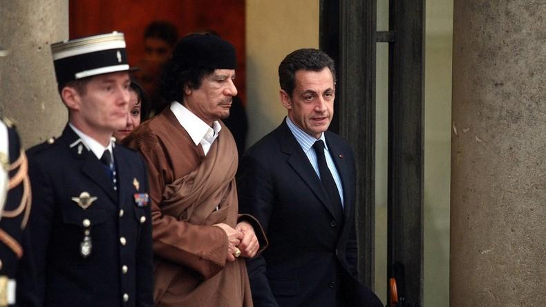 Laut Ex-Berater: Gaddafi soll Sarkozy 20 Millionen Euro für Wahlkampf gespendet haben (Video)