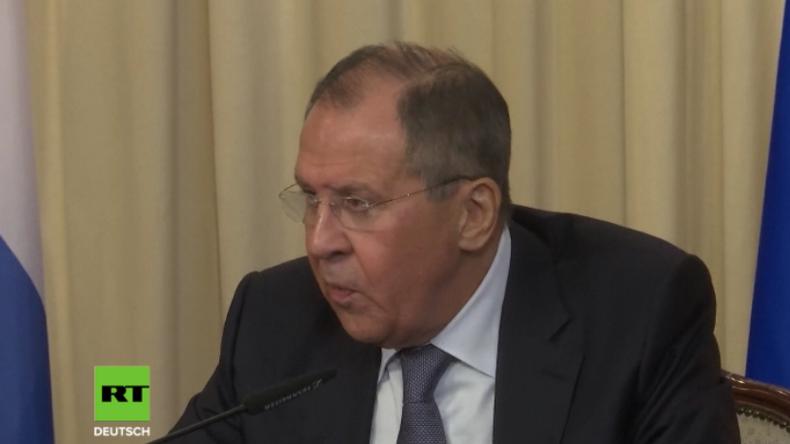 """Lawrow: Haben schlüssige Beweise dafür, dass """"Chemiewaffen-Angriff"""" in Duma inszeniert wurde (Video)"""