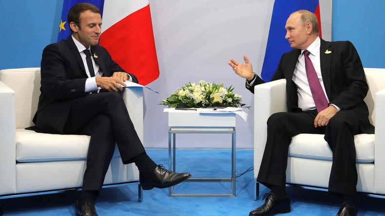 Macron und Putin besprechen per Telefon  Syrien-Krise