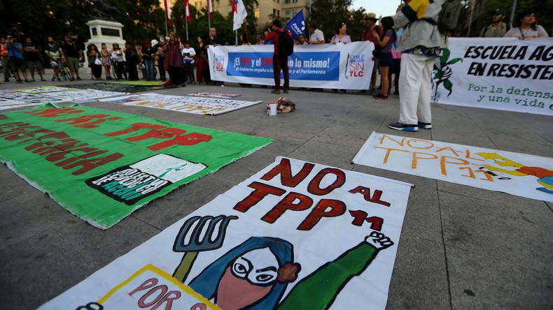 Südamerika: Widerstand gegen das Freihandelsabkommen zwischen Chile und Uruguay