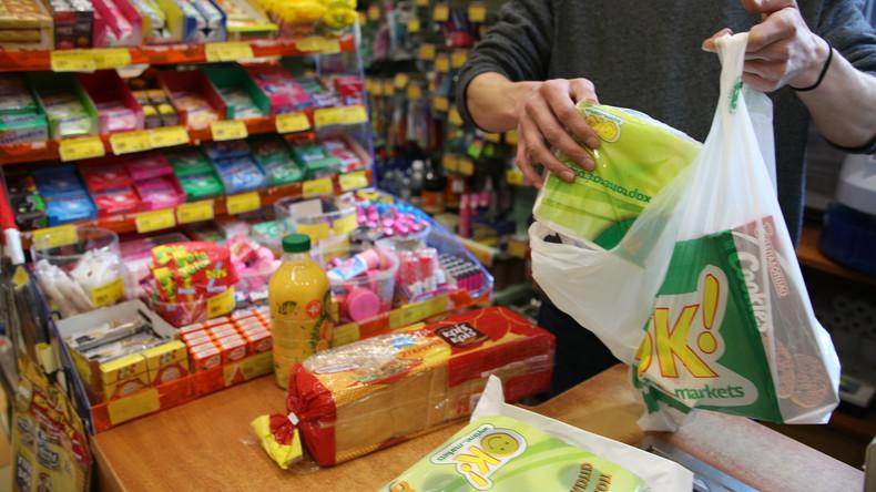 Dänische Supermärkte führen Pfand auf Plastiktüten ein