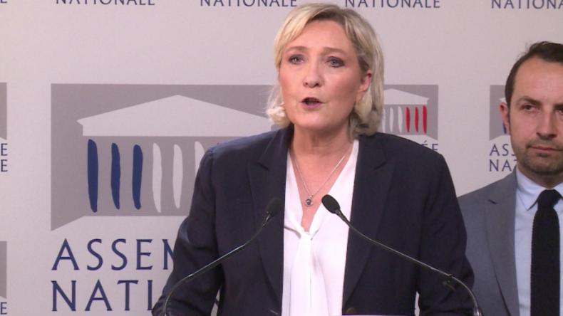 """Le Pen: """"Regime-Change und Machtübernahme der Islamisten wahre Ziele des Angriffs auf Syrien"""""""