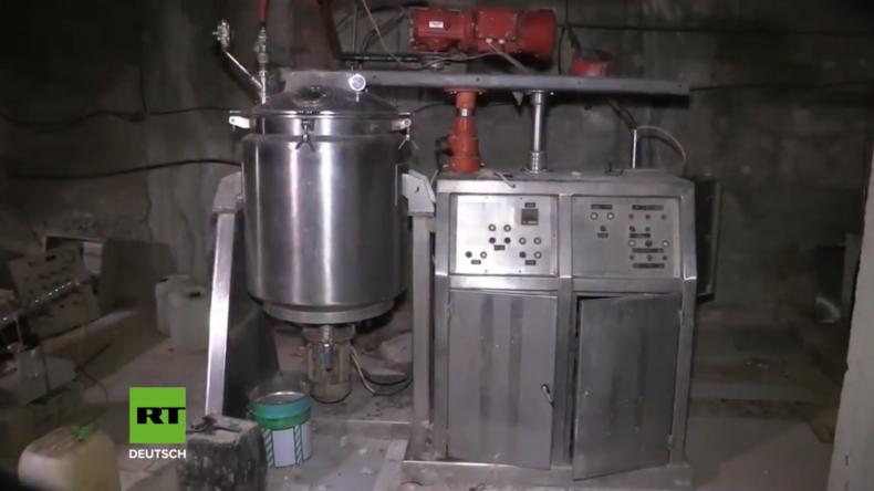 Syrien: Russische Soldaten finden mutmaßliche Chemiewaffen-Stätte der Islamisten in Duma
