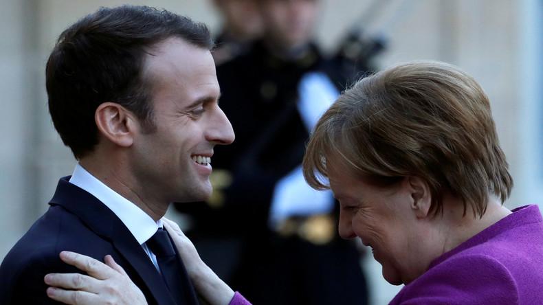 Gespräche über umstrittene EU-Reformpläne: Frankreichs Präsident Macron besucht Kanzlerin Merkel