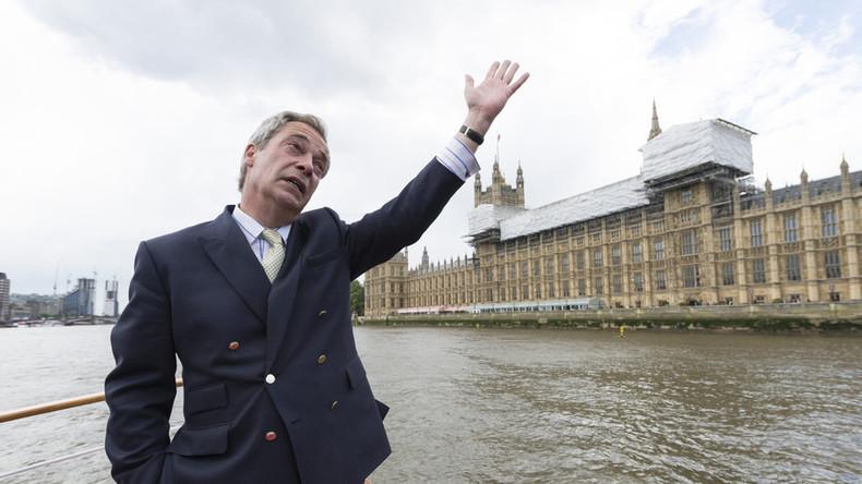 Paradox? Berühmtester Brexit-Aktivist Nigel Farage räumt ein, dass seine Söhne deutsche Pässe haben