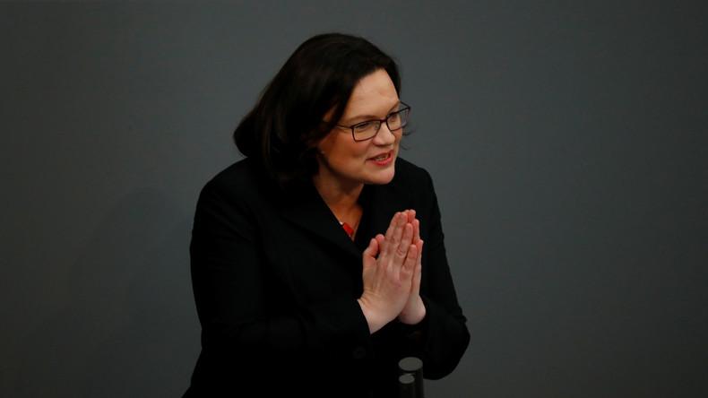 """Nahles über SPD-Vorsitz: """"Ich glaube, ich kann das!"""""""