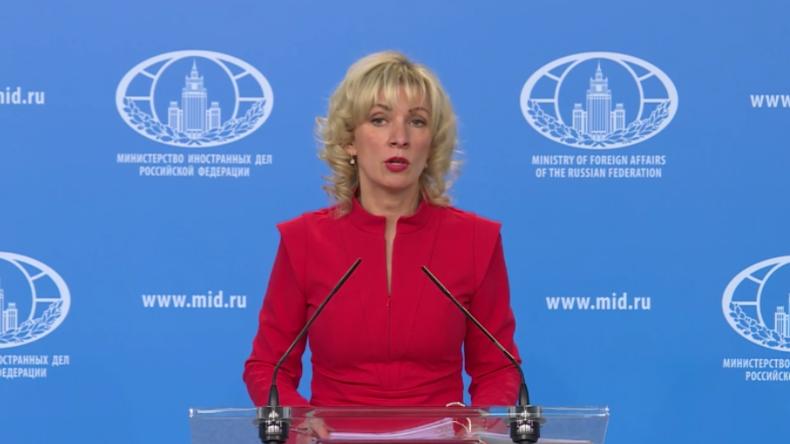 """Sacharowa zu Chemikalien-Fund in Duma: """"Glauben an Menschlichkeit westlicher Politiker verloren"""""""